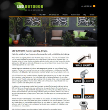 LED Outdoor website front page.